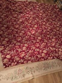 Laura. Ashley linen union red gold festive party fabric