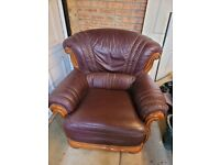 Quality Single Large Leather Single Chair