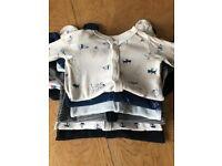 Bundle of Marks & Spencer baby sleepsuits (0-3 months)