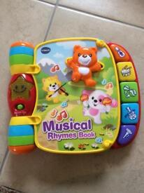 Vtech musical rhymes book toy