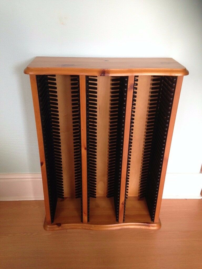 Antique pine CD storage rack