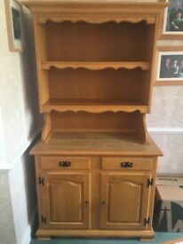 Beech dresser for sale. Excellent condition.