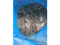 Decorative grey slate chippings