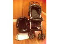 Baby two in one pram