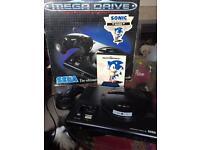 Sega mega drive with sonic boxed
