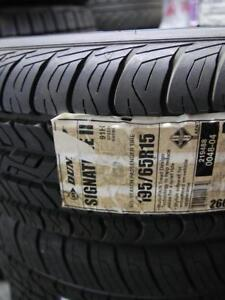 ONE SINGLE NEW TIRE P195/65/15 DUNLOP SIGNATURE TIRE