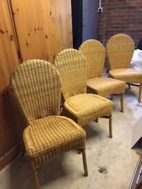 SET OF 4 WICKER CHAIRS