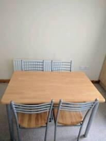 Wood/metal dining room table for sale