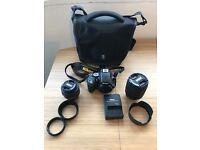 Nikon D5100 + 18-105mm + 35mm + Crumpler Bag