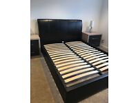 Brown Leather King Size 5ft Bed Frame