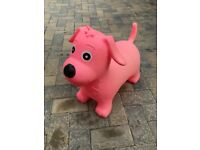 Pink Bouncy Dog Hopper Toy