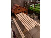 Brand new picnic benches