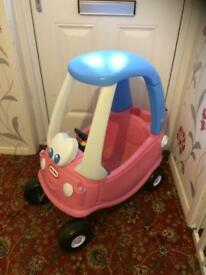 Little tikes pink princess cosy coupe car