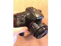 Sony a65 + Sony 50mm f1.4 and Minolta 28mm f 2.8