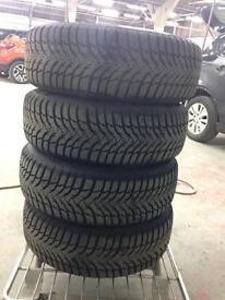 4 tyres on steel wheels