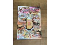 Metal advertising sign - retro Sutton's enamel