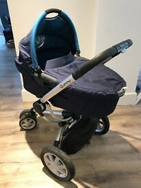 Quinny buzz 3 pram and carry cot with accessories