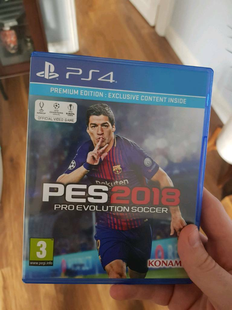 Pro Evolution Soccer 2018 Pes Playstation 4 Ps4 In Trafford Sony Premium Edition