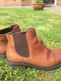 Brown Leather Chelsea Boots Size 2