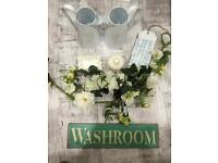 Selection of shabby chic home items
