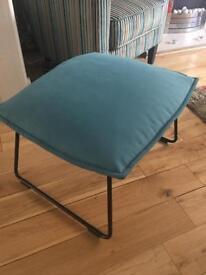 IKEA turquoise blue stool VILLSTAD seat