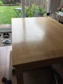 Four to six seater dining table