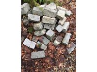 Granite cobble stones - over 1000 available- used