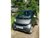 Smart Fortwo Black/Grey. £30 a year Road Tax, Low mileage, Well looked after