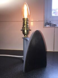 Vintage flat iron lamp