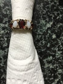 9ct gold vintage eternity ring size N