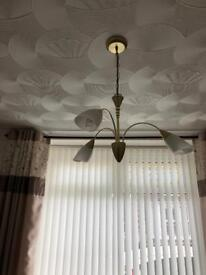 2 ceiling lights and a wall light all matching