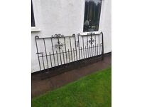 Pair of Heavy iron driveway/garage gates 8ft wide