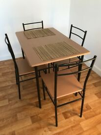 Dining Table + 4 Chairs, Nearly New