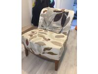 Fabric comfy chair