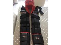 Kick boxing sparring equipment, pads