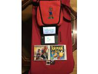 Nintendo 3ds xl handheld console red good fully working condition with mario carry case