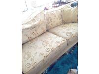 Laura Ashley settee - cream sofa - stunning