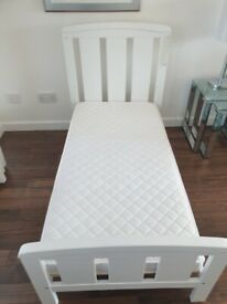 Cot bed and mattress in excellent used condition