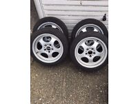 "BMW ALLOY WHEELS 17"" 8"" Wide Deep Dish Genuine FITS ALL BMW 5x120mm Bolt Patter - LONDON -"
