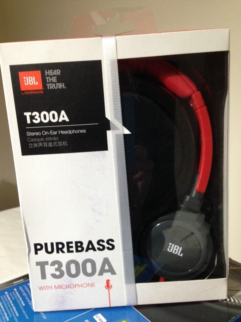 **Brand New** JBL T300A On-Ear Headphones Red with