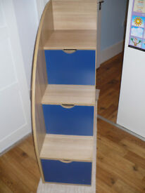 Stairs with drawers for children's bunk beds/ mid sleeper. Project/freestanding toy storage