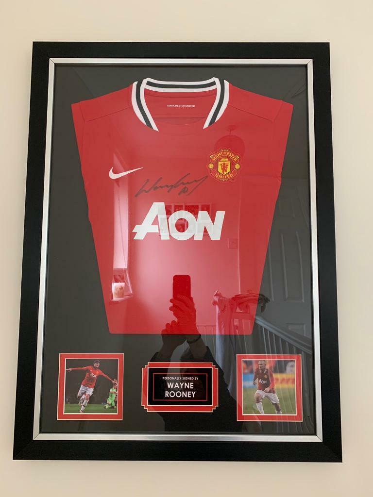8e48cc01d95 Wayne Rooney Manchester United Signed framed shirt 100% authentic genuine