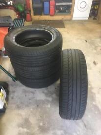 225/60/r18 Dunlop so sport tyres