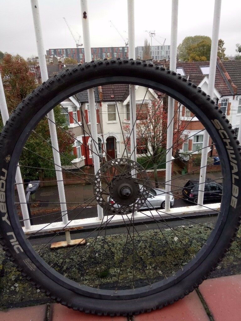 FRONT QUICK RELEASE Wheel 26 INCHES DISC BRAKE rim and tyre £25