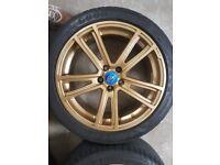 Subaru Impreza WRX alloys with Goodyear Eagle F1 tyres 5x100
