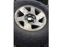 Mitsubishi l200 wheels tyres set of 5 good tread