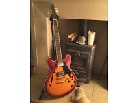 Aria Pro II 335 type guitar in Vintage Sunburst finish. Stunning condition 25 years old.