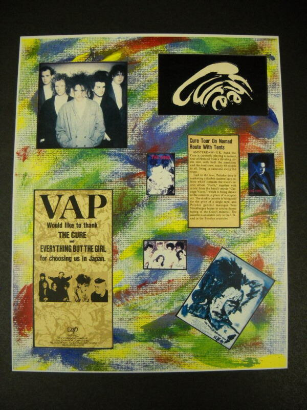 The CURE rare and obscure VINTAGE Collage Promo Poster Print mint condition