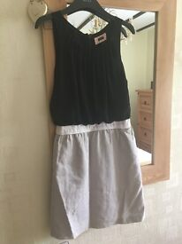 Next woman's black and beige dress. Size 6.