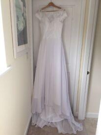Chiffon and lace unworn wedding dress